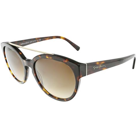 Giorgio Armani Women's Gradient AR8086-502613-55 Brown Oval Sunglasses