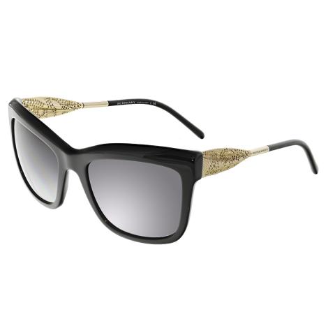 Burberry Women's Gradient BE4207-30018G-56 Black Square Sunglasses