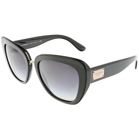 Dolce & Gabbana Women's Gradient DG4296-501/8G-53 Black Cat Eye Sunglasses