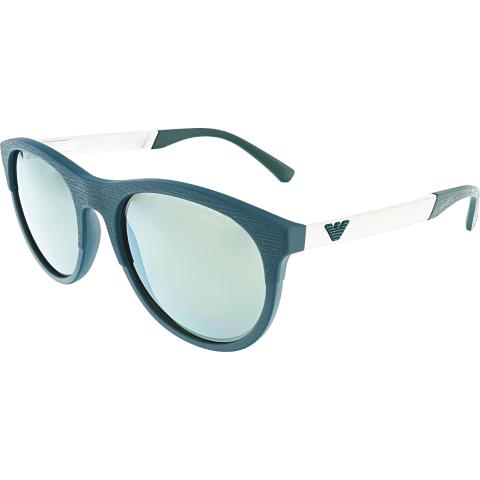 Emporio Armani Men's EA4084-55586R-56 Blue Oval Sunglasses
