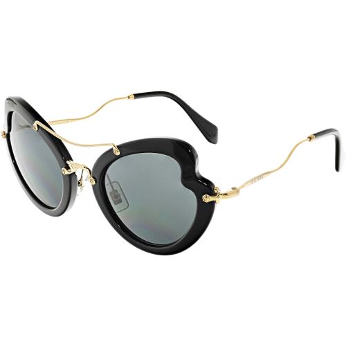9b02c310dba MIU MIU Miu Women s MU11RS-1AB1A1-52 Black Butterfly Sunglasses