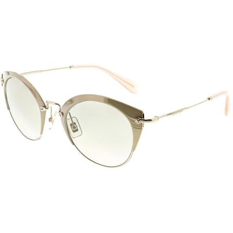 Miu Women's MU53RS-UFD3H2-52 Gold Cat Eye Sunglasses