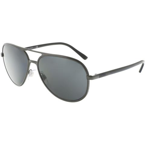 Ralph Lauren Men's PH3102-918787-59 Grey Aviator Sunglasses