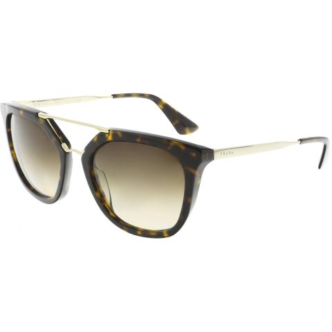 Prada Women's Gradient PR13QS-2AU6S1-54 Brown Geometric Sunglasses
