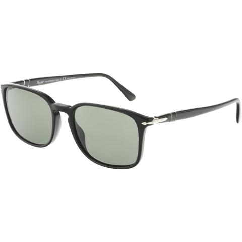 Persol Men's Polarized PO3158S-95/58-56 Black Rectangle Sunglasses