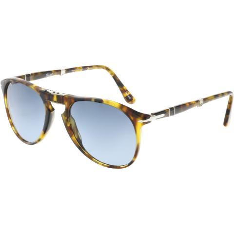 Persol PO9714S-1052S3-52 Brown Aviator Sunglasses