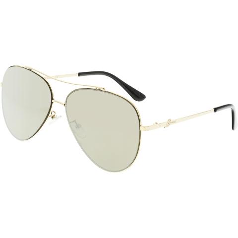 Guess Women's GF0301-32G-60 Gold Aviator Sunglasses