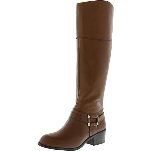 Alfani Women's Biliee Knee-High Leather Equestrian Boot