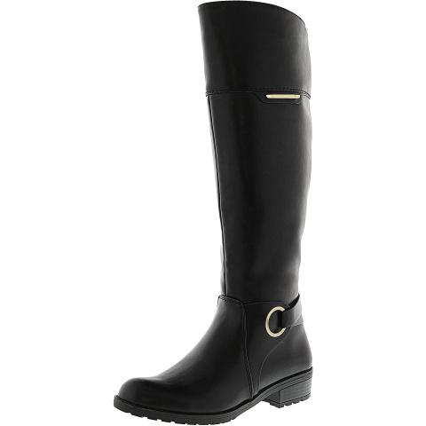 Alfani Women's Jadah Knee-High Leather Equestrian Boot