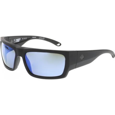 Spy Men's Polarized Rover 673372973486 Black Rectangle Sunglasses