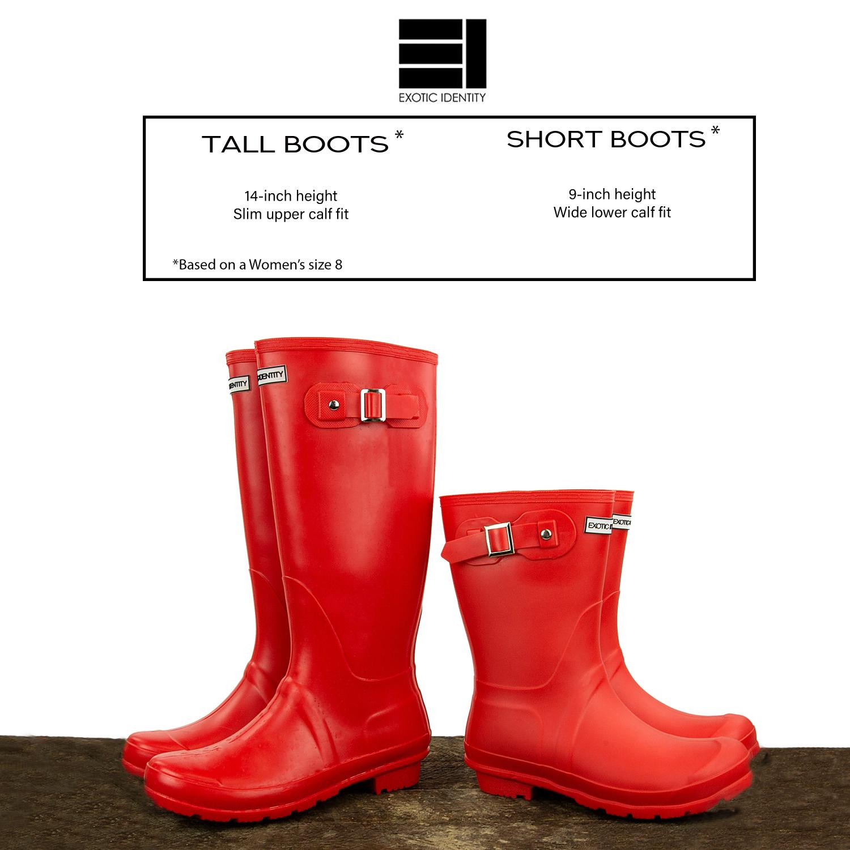 Exotic-Identity-Original-Tall-Rain-Boots-Waterproof-Premium-PVC-Nonslip-So thumbnail 40