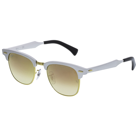 Ray-Ban Mirrored Clubmaster RB3507-137/70-49 Silver Sunglasses