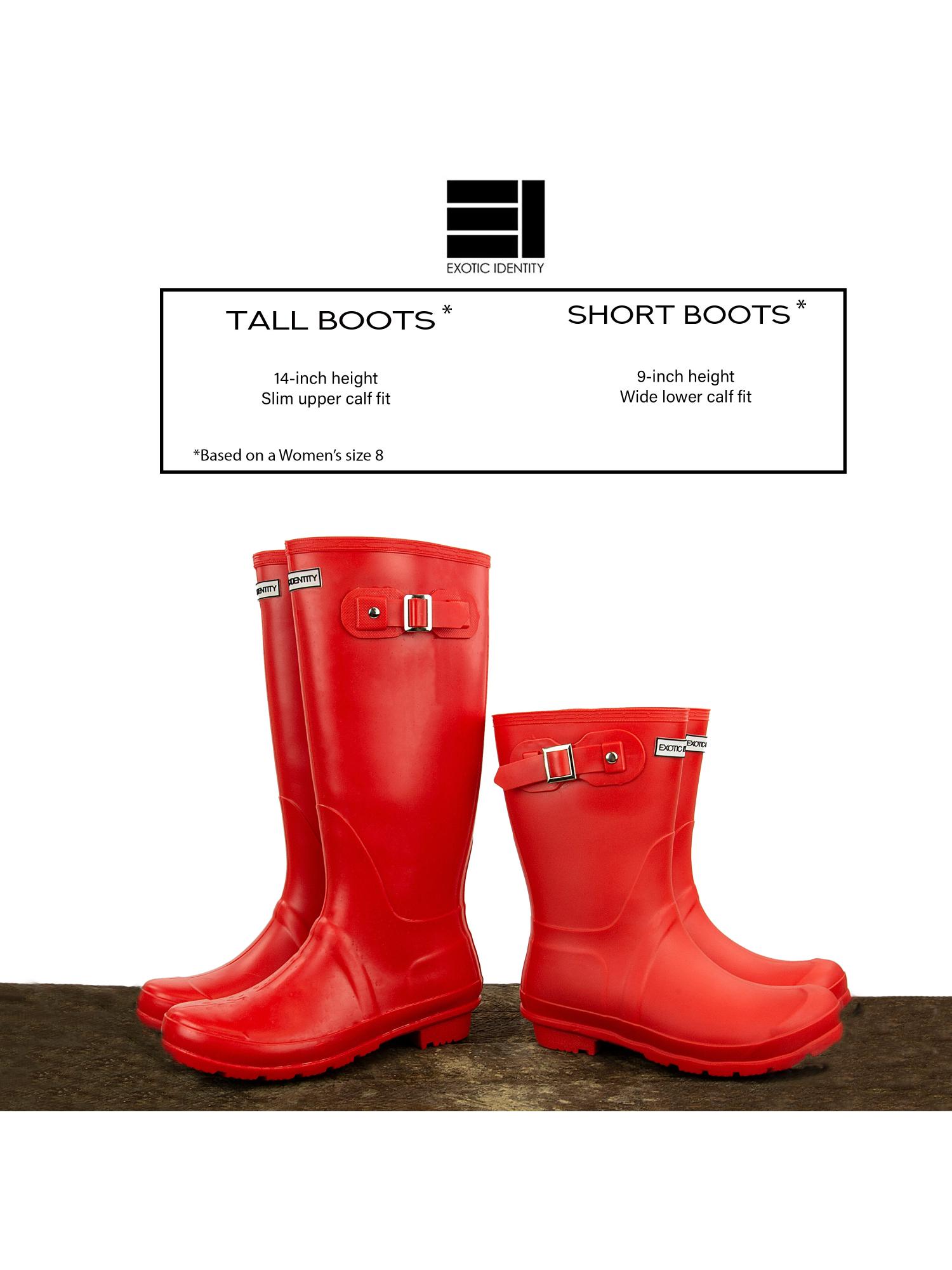 Exotic-Identity-Short-Rain-Boots-Non-Slip-100-Waterproof-for-Women thumbnail 17