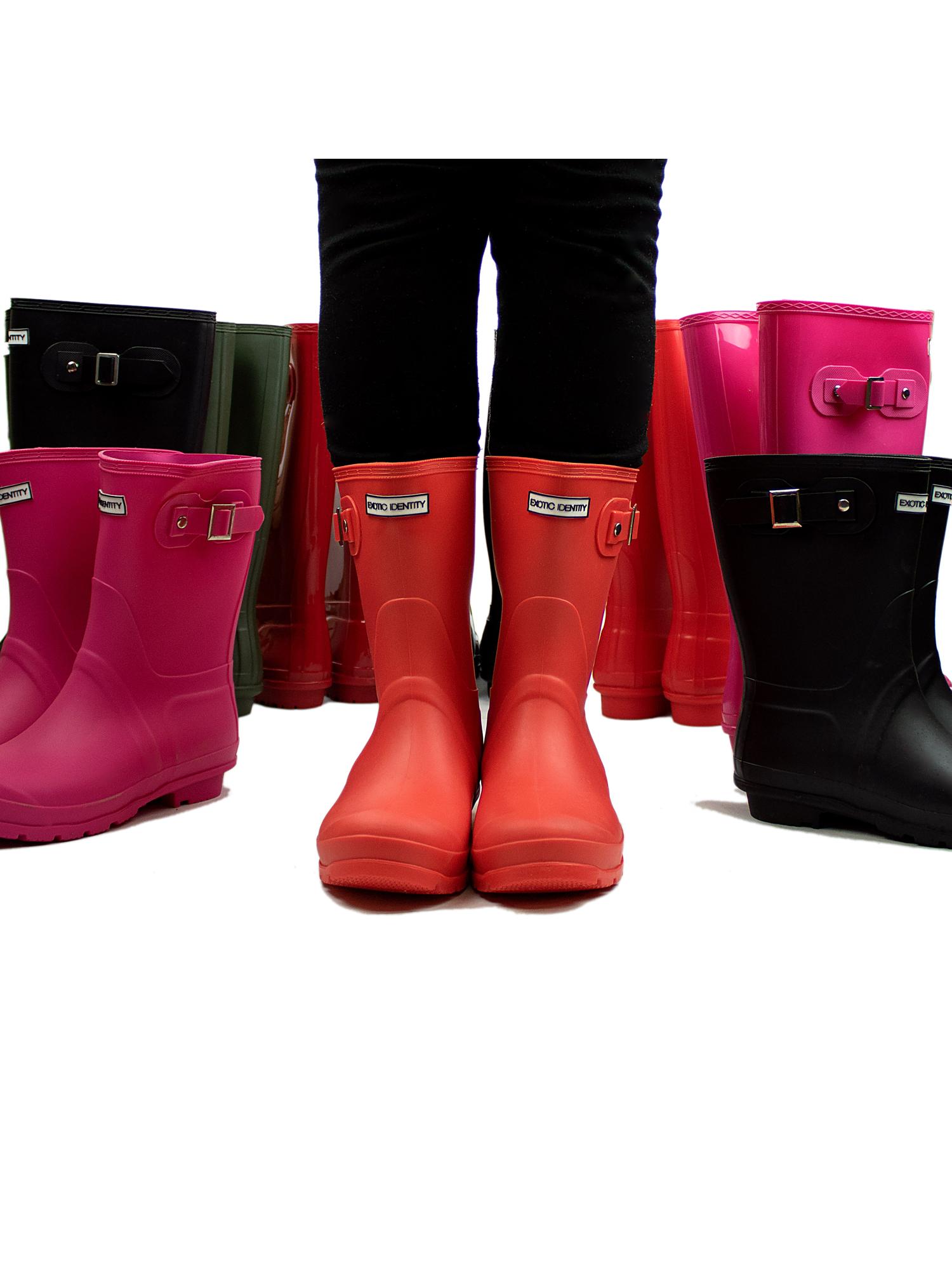Exotic-Identity-Short-Rain-Boots-Non-Slip-100-Waterproof-for-Women thumbnail 11