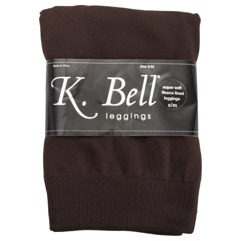 K. Bell Super-Soft Fleece Lined Footless Leggings for Women