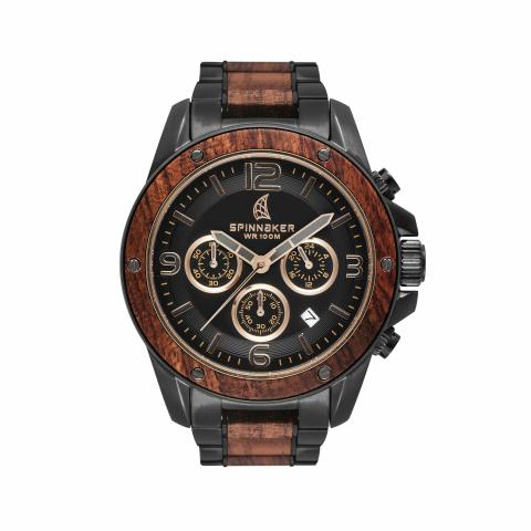 Spinnaker Men's Vessel SP-5027-88 Black Stainless-Steel Japanese Quartz Sport Watch