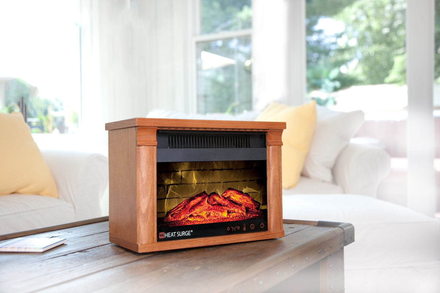 thumbnail 7 - Heat Surge Mini Glo Efficiency Plus Touch Portable Electric Fireplace Heater ...