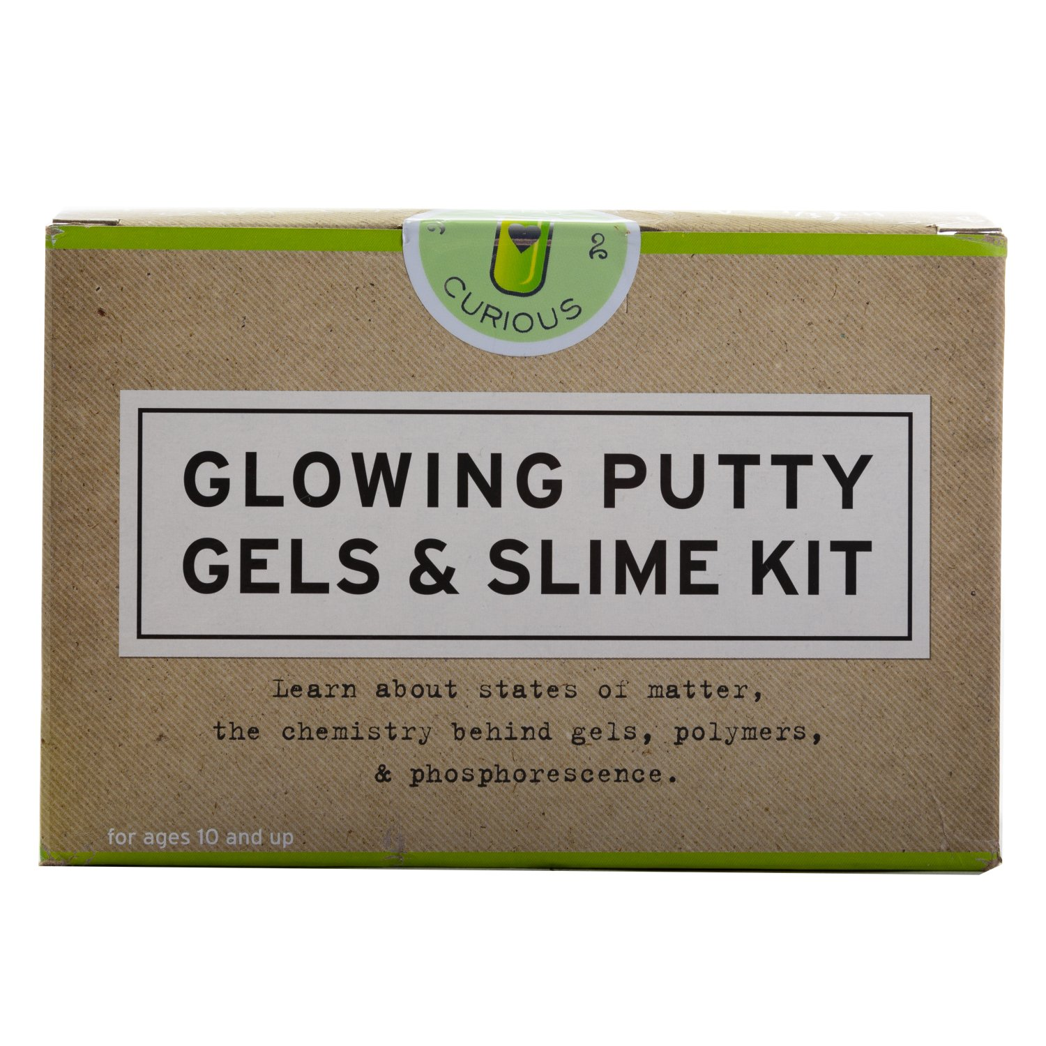 Glowing Putty Gels and Slime Kit Chemistry Set - Tan