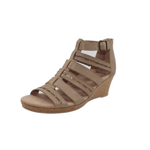 Earth Women's Woodland Sunny Ankle-High Leather Wedged Sandal