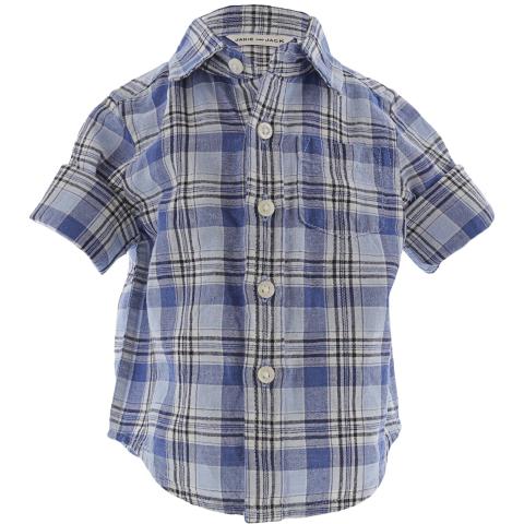 Janie And Jack Boy's Plaid Linen Shirt Button-Down & Dress