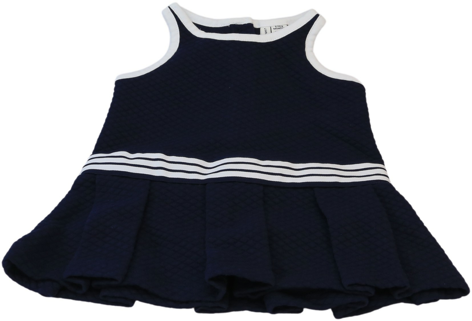 Janie And Jack Girl/'s Quilted Dropwaist Dress