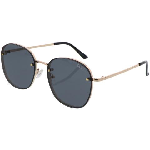 Quay Women's Jezabell Rimless QW-000649-GLD/SMK Gold Round Sunglasses
