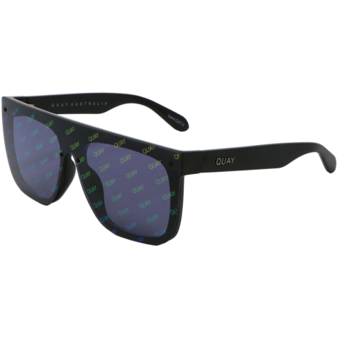 Quay Women's Jaded QU-000537-BLK/SMKRNBW Black Geometric Sunglasses