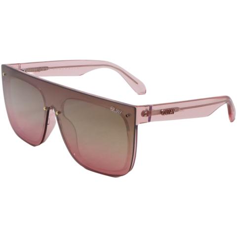 Quay Women's Jaded QW-000537-PNK/BRNPNKFLS Pink Square Sunglasses