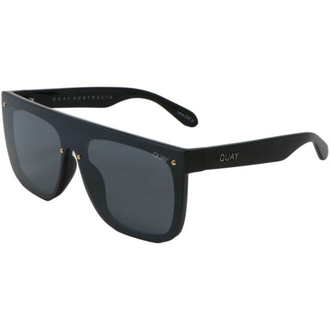 Quay Women's Jaded QW-000537-BLK/SMKFLS Black Geometric Sunglasses