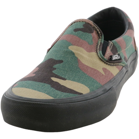 Vans Men's Slip-On Pro Camo Ankle-High Canvas Women'