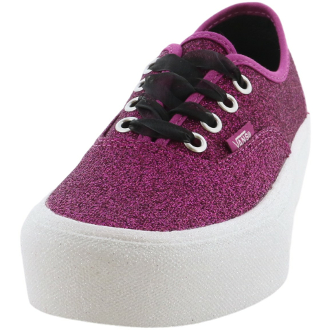 Vans Authentic Platform Glitter Low Top Sneaker