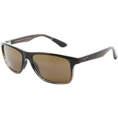Maui Jim Men's Polarized Onshore H798-01 Brown Rectangle Sunglasses