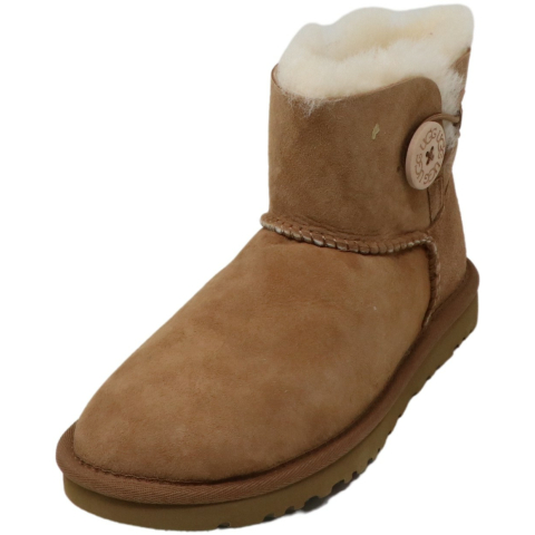 Ugg Women's Mini Bailey Button Ankle-High Suede Boot