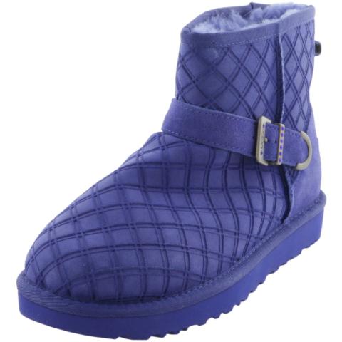 Ugg Women's Marilu Double Diamond High-Top Leather Snow Boot