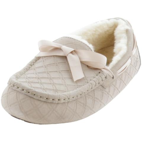Ugg Women's Dakota Double Diamond Ankle-High Leather Slipper