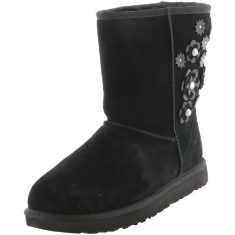 Ugg Women's Classic Short Petal Mid-Calf Leather Snow Boot