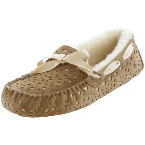 Ugg Women's Dakota Flora Perf Ankle-High Leather Slipper