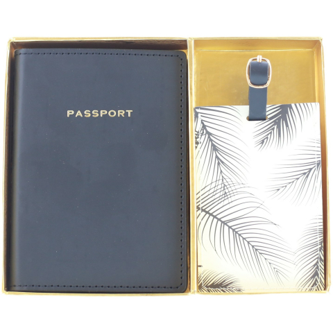 Eccolo Passport And Luggage Tag Set Case