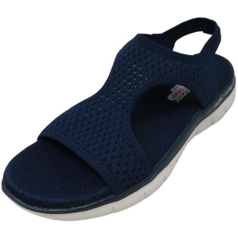 Skechers Women's Flex Appeal 2.0 - Deja Vu Low Top Fabric Sandal