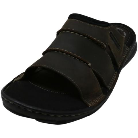 Rockport Men's Darwyn Slide Leather Sandal