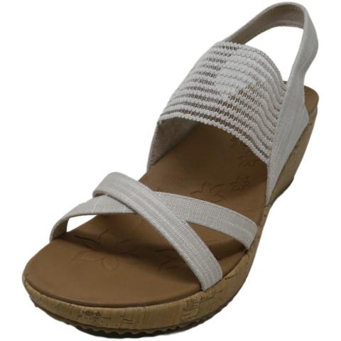 Skechers Women's Beverlee - High Tea Ankle-High Fabric Wedged Sandal