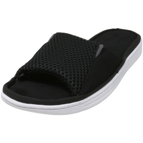 Dearfoams Men's Mesh Slide Sandal