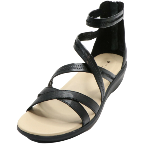 Hush Puppies Women's Lyricale Backzip Leather Ankle-High Sandal