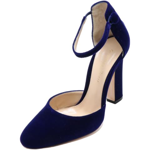 Gianvito Rossi Women's Velluto Sandal Ankle-High Velvet Pump
