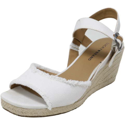 Lucky Brand Women's Mindra Ankle-High Fabric Wedged Sandal