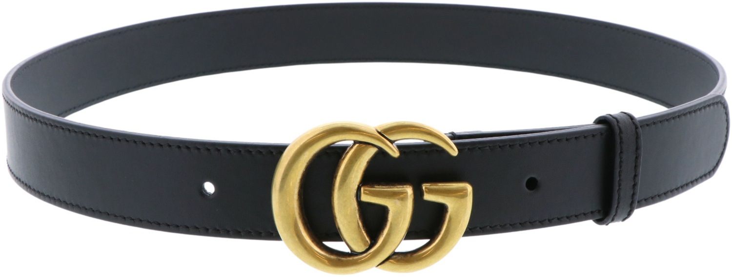 Gucci-Women-039-s-Leather-Belt-With-Double-G-Buckle thumbnail 4