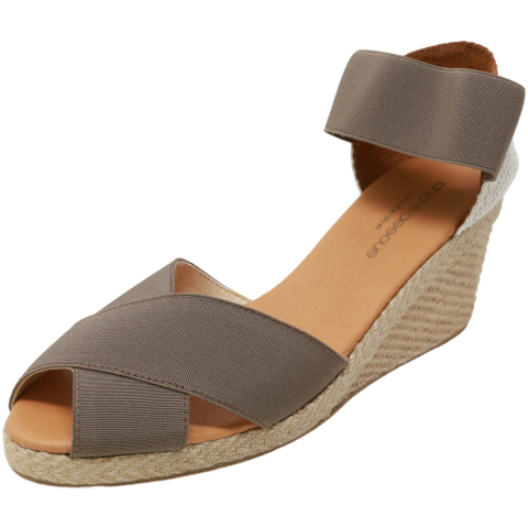 Andre Assous Women's Erika Ankle-High Fabric Wedged Sandal
