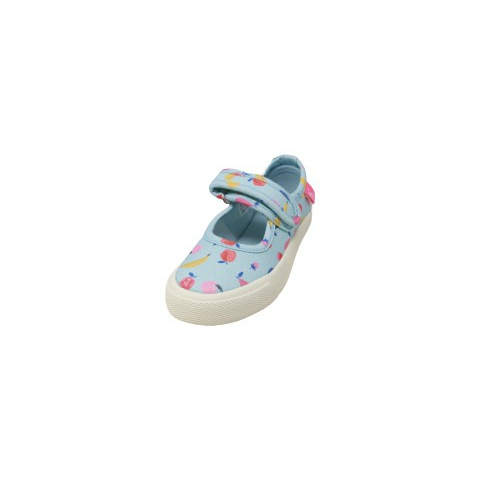Joules Girl's Junior Fun Days Ankle-High Canvas Ballet