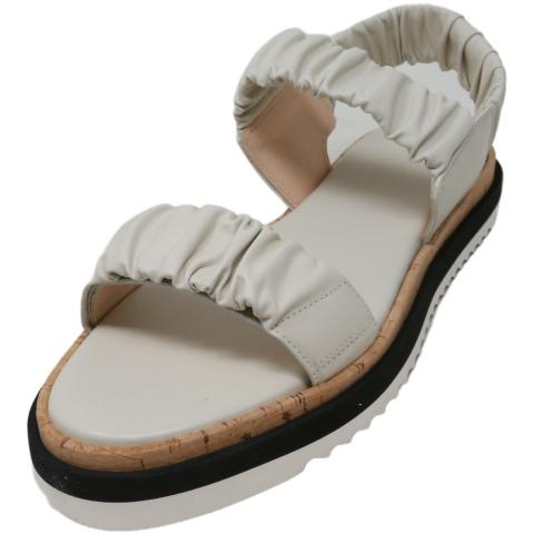 Agl Women's Ruched Platform Sandal Ankle-High Leather