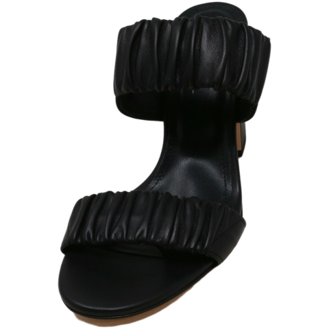 Agl Women's Chunky Heel Sandal Leather